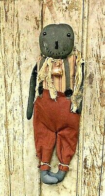 "Primitive Grungy 25"" CURTIS  Pumpkin Man Doll Autumn/Fall Country FREE SHIPPING"