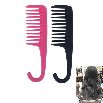 Hook Handle Anti Static Detangling Accessories Wide Tooth Hair Comb Styli~GN