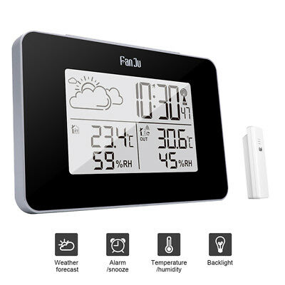 Wireless Weather Station Digital Clock Humidity Outdoor Thermometer Sen~GN