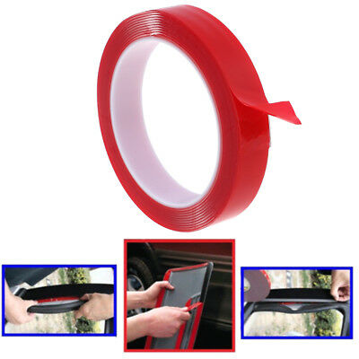 Red Double Sided Adhesive Tape High Strength Acrylic Gel Transparent Car Fix~GN