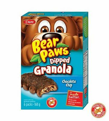 Dare Bear Paws Dipped Chocolate Chip Granola, 168g/5.9oz, {Imported from Canada}