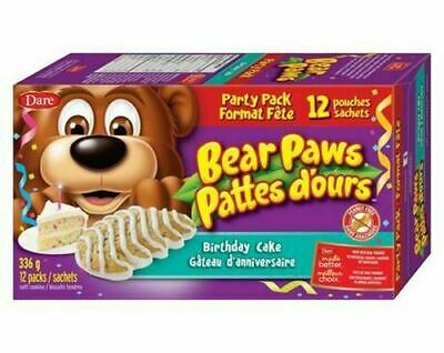 Dare Bear Paws, Birthday Cake, Party Pack, 12ct, 336g/11.9oz., {Canadian}
