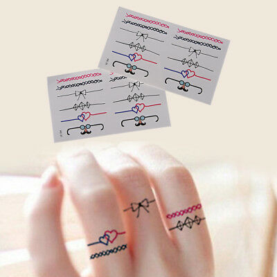 DIY Ring Removable Waterproof Temporary Tattoo Body Sticker 2P~GN