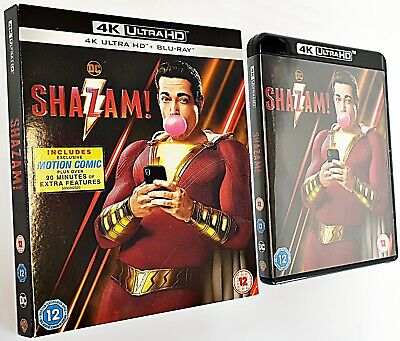 SHAZAM  4K UHD* Dolby Atmos.. 2D Disc not included.. Glossy Slip-Case included