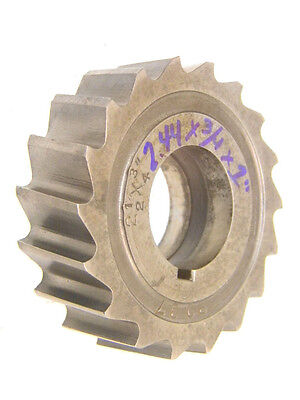 """WELL USED HSS MILLING CUTTER 2.44"""" Dia x 3/4"""" Width x 1"""" Hole"""