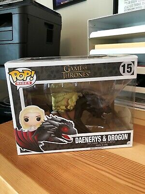 Funko 7235 Pop Rides Game of Thrones Dragon and Daenerys Action Figure