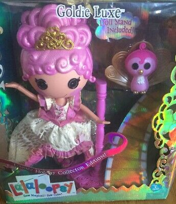 Lalaloopsy Limited Holiday Collector Goldie Luxe Full Size Doll Pet Peacock NEW