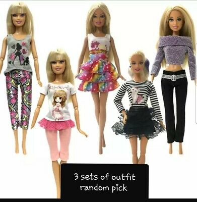 New everyday outfit clothes dress for Barbie doll at random picked Au Seller SC1