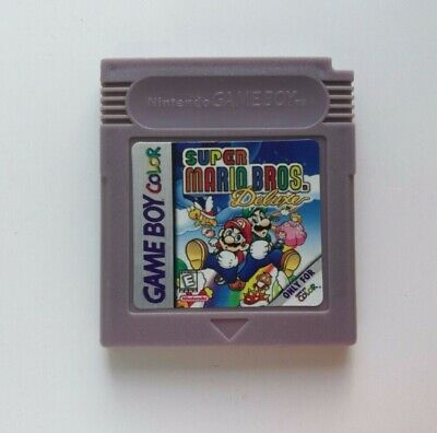 Super Mario Bros. Deluxe Cartridge Card for Game Boy Color Advance GBC GBA SP