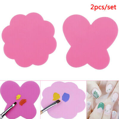 2Pcs Silicone Mixing Palette nail Mat Stamping Pad Drawing Silicone Palette T~GN