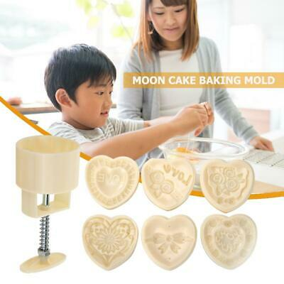Round Ice Skin Mooncake Molds Hand Pressure Heart Cutter Pastry DIY Bake Tools