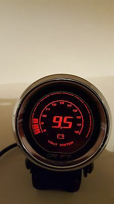 DRIFT 52mm IRIDIUM RED DIGITAL VOLT GAUGE