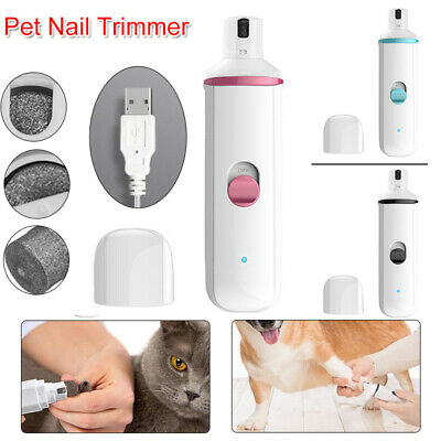 Electric Pet Dog Cat Nail Grinder Trimmer Grooming Tool Clipper For All Size Pet