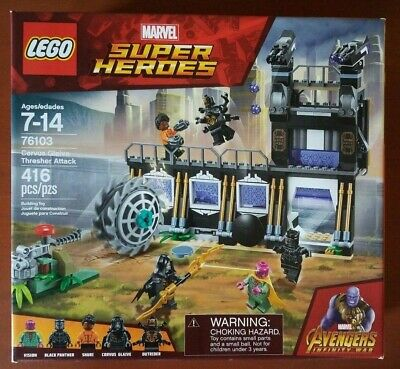 LEGO 76103 Marvel Infinity War Corvus Glaive Thresher Attack NIB Sealed