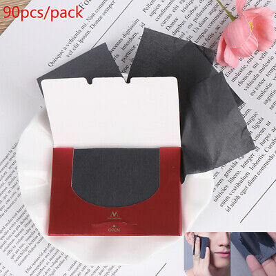 90Pcs/pack Bamboo Charcoal Oil Blotting Sheet Paper Oil Control Tissue Portab~GN