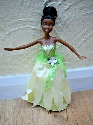 Disney Princess And The Frog Tiana Black Barbie Doll With Reversible Dress