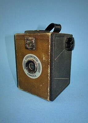 Rare 1930s Kenilworth box camera in good working condition - brown finish