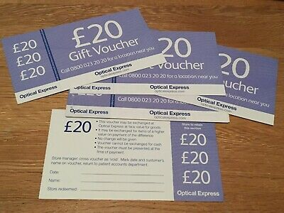 Optical Express Gift Voucher (Gift Card / Credit note) for Optician Glasses