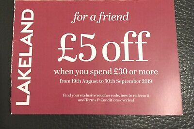 £5 off at Lakeland voucher in store or online