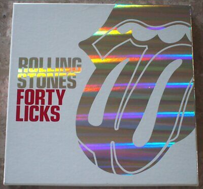 Rolling Stones Forty Licks 2002 Collectors Box Set 2 CD Book Poster
