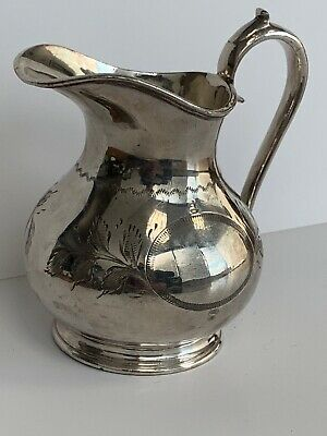 Vintage Antique Walker And Hall ? Ep Milk Cream Jug Hallmarked