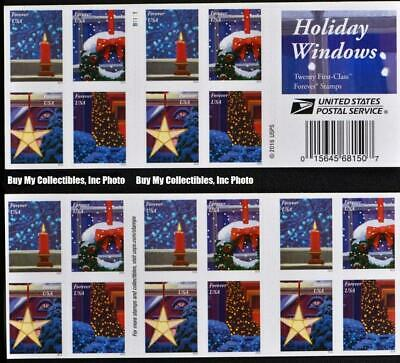 20 Usps Holiday Window Christmas Postage Forever Stamps 1 Book Wreath Tree