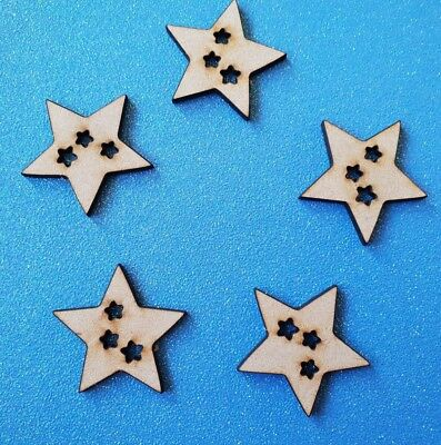 Funky Stars for Hanging pack of 5 - Christmas, Nordic, Rustic, Craft