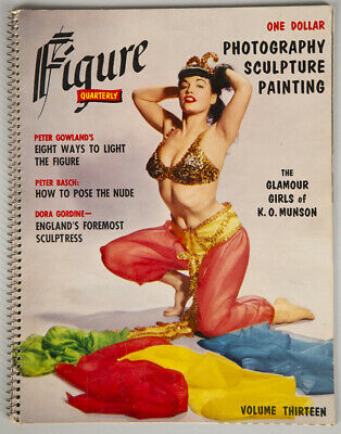 Vintage 1956 Figure Quarterly Magazine Bettie Page Pin-Up Cover Sexy Harem Girl