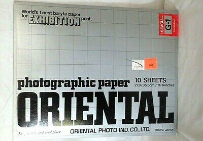 Oriental Exhibition Photo Enlarging Paper Seagull  10 G-1  11x14 Vintage Cold