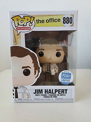 Funko Pop The Office Jim Halpert 3-Hole Punch Funko Shop Exclusive 880 *IN HAND*