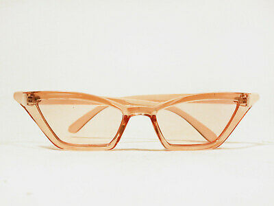 Cat Eye Sonnenbrille Schmal Sun Rosa Sal Off Balenciaga Inspired Vetements White