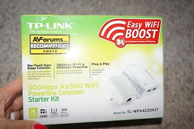 TP-LINK TL-WPA4220 KIT AV500 2-Port WiFi Powerline Extender (like ñew)