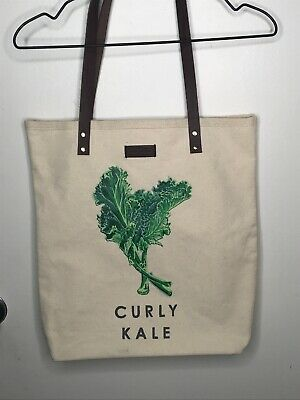 Smith & Hawken Curly Kale Canvas Market Tote Bag