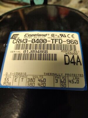 Copeland Model CRM - 0400 - TFD - 960,  5 Ton Compressor (New)