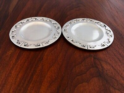 - (2) Bernice Godspeed Mexican Sterling Silver Coasters / Butter Pats Taxco
