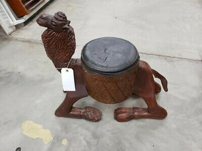 Vintage Camel Stool Unique Carved Collectable Decorative Rare Retro Find