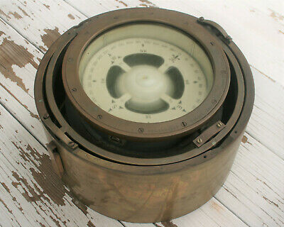 Wwii Mark I Lionel Corp 1943 Antique Brass Compass ! Us Navy Bureau Of Ships !