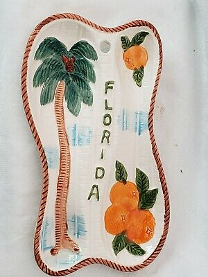 Vintage Spoon Rest Souvenir Florida Oranges Retro Kitchen Collectable