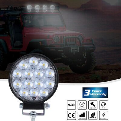 """4"""" 14 LED Round Work Light Pods Driving Fog Spot Lamps Bar Offroad SUV Tractor"""