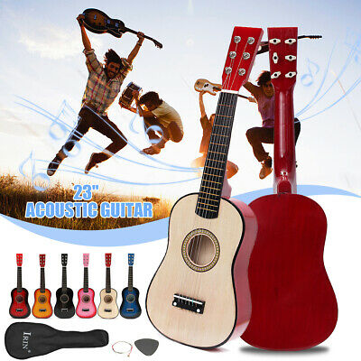 23'' Children Kids Wooden Beginners Practice Acoustic Guitar 6 String