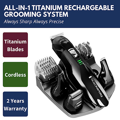 Remington Beard Shaver Mens Cordless Grooming Kit Electric Body Hair Clippers