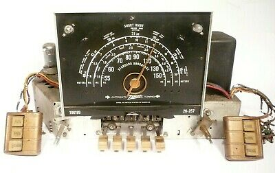 vintage ZENITH 7S523 TABLETOP RADIO: Untested CHASSIS w/ ALL TUBES & PRE-SETS