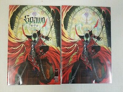 Lot of 2 Spawn #300 IMAGE J Scott Campbell Regular and Virgin Cover Set NM