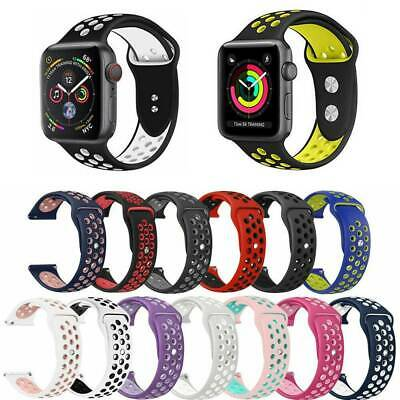 Soft Silicone Sport Wristband For Apple Watch Band Strap Series 38/40mm 42/44mm
