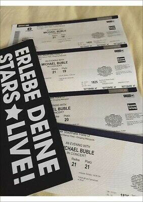 Michael Buble - Wiener Stadthalle - 21.9.19 - 4 Tickets