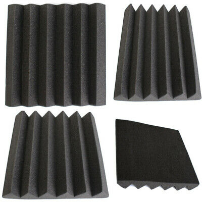 New Acoustic Wedge Studio Soundproofing Foam Wall Tiles Absorption Sound