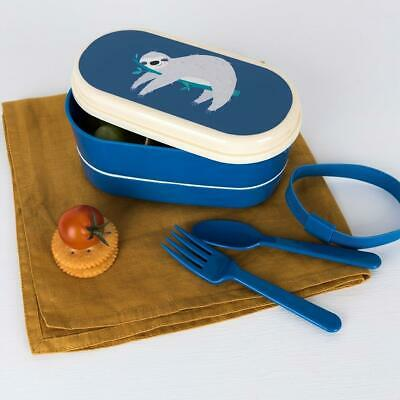 NEW Rex London Small Bento Box - Sloth - Lunch Box
