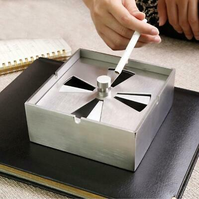 Stainless Steel Ashtray Heat Resistant Windproof Smoking Container Indoor Decor