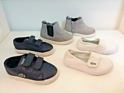 Lacoste & Country Road Size 5-6 USA Toddler Bulk Bundle Leather Designer Shoes