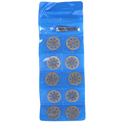10Pcs Double Sided Diamond Cutting Discs Saw Blade with Connecting R~GN